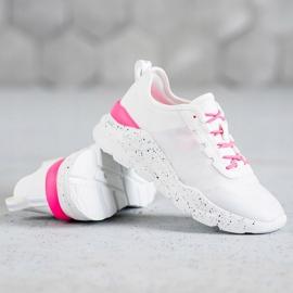 Kylie Klasyczne Obuwie Sportowe białe różowe 2