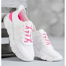 Kylie Klasyczne Obuwie Sportowe białe różowe 3