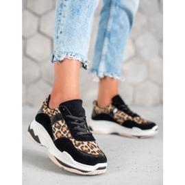 Kylie Sneakersy Leopard Print czarne wielokolorowe 4