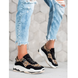 Kylie Sneakersy Leopard Print czarne wielokolorowe 5