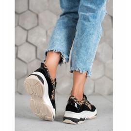 Kylie Sneakersy Leopard Print czarne wielokolorowe 1
