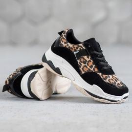 Kylie Sneakersy Leopard Print czarne wielokolorowe 2