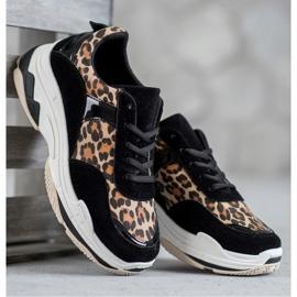 Kylie Sneakersy Leopard Print czarne wielokolorowe 3