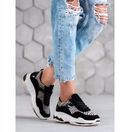 Kylie Sneakersy Zebra Print czarne wielokolorowe 2