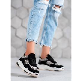 Kylie Sneakersy Zebra Print czarne wielokolorowe 3