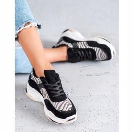 Kylie Sneakersy Zebra Print czarne wielokolorowe 4