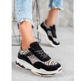 Kylie Sneakersy Zebra Print czarne wielokolorowe 5