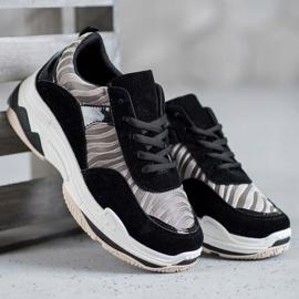 Kylie Sneakersy Zebra Print czarne wielokolorowe 1