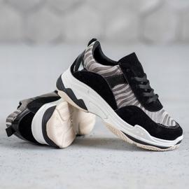 Kylie Sneakersy Zebra Print czarne wielokolorowe 6