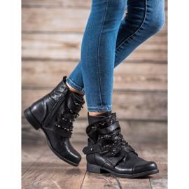 GISICODE Rockowe Buty Z Perełkami czarne 4