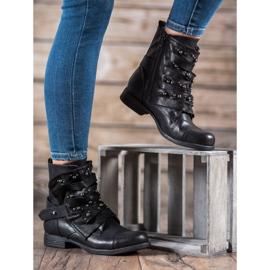 GISICODE Rockowe Buty Z Perełkami czarne 5
