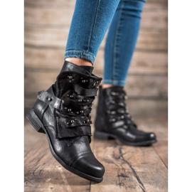 GISICODE Rockowe Buty Z Perełkami czarne 6