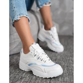SHELOVET Modne Białe Sneakersy 4