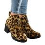 Leopard botki damskie z suwakiem A273 zdjęcie 1
