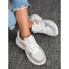 SHELOVET Sportowe Sneakersy białe różowe wielokolorowe 1