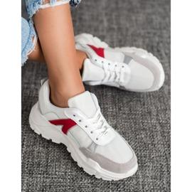 SHELOVET Sportowe Sneakersy białe czerwone wielokolorowe 2