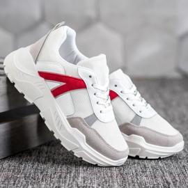 SHELOVET Sportowe Sneakersy białe czerwone wielokolorowe 4