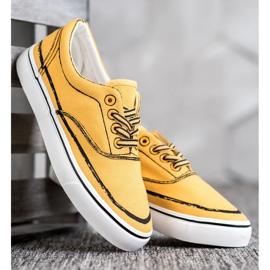 Bestelle Modne Trampki żółte 3