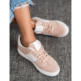 Emaks Sneakersy Z Dżetami białe różowe 1