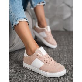 Emaks Sneakersy Z Dżetami białe różowe 4