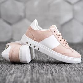 Emaks Sneakersy Z Dżetami białe różowe 3
