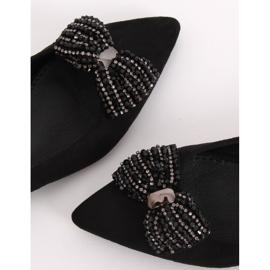 Baleriny damskie czarne 1685 Black 4