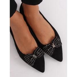 Baleriny damskie czarne 1685 Black 2