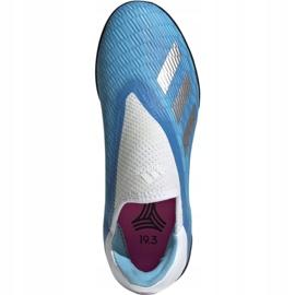 Buty piłkarskie adidas X 19.3 Ll Tf Jr EF9123 niebieskie niebieskie 1