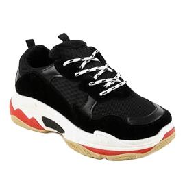 Czarne modne obuwie sportowe LL1710 1