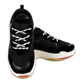 Czarne modne obuwie sportowe LL1710 3