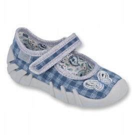 Befado obuwie dziecięce 109P188 niebieskie szare 1