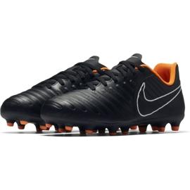 Nike Buty piłkarskie Tiempo Legend 7 Club Fg Jr czarne czarne 2