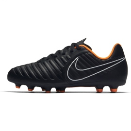 Nike Buty piłkarskie Tiempo Legend 7 Club Fg Jr czarne czarne 3