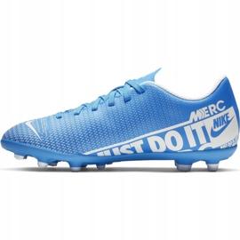 Buty piłkarskie Nike Mercurial Vapor 13 Club FG/MG Jr AT8161-414 niebieskie niebieskie 2