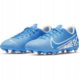 Buty piłkarskie Nike Mercurial Vapor 13 Club FG/MG Jr AT8161-414 niebieskie niebieskie 3