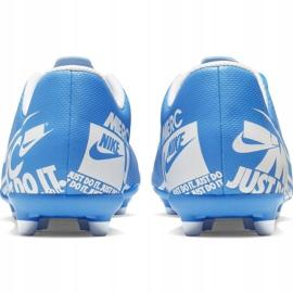 Buty piłkarskie Nike Mercurial Vapor 13 Club FG/MG Jr AT8161-414 niebieskie niebieskie 4