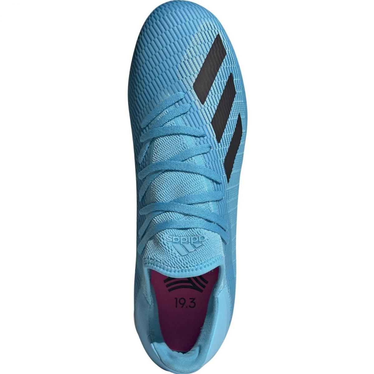 Buty halowe adidas X 19.3 In M F35371 niebieskie niebieski