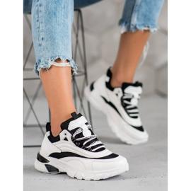 SHELOVET Sneakersy Fashion białe czarne 6
