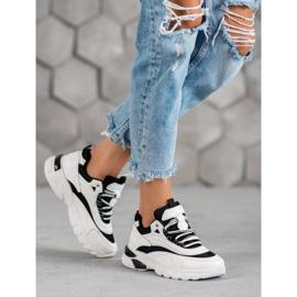 SHELOVET Sneakersy Fashion białe czarne 5