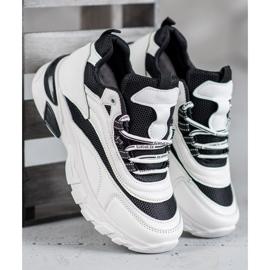 SHELOVET Sneakersy Fashion białe czarne 2