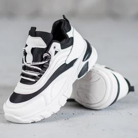 SHELOVET Sneakersy Fashion białe czarne 3