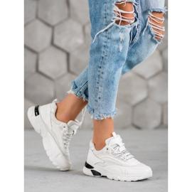 SHELOVET Sneakersy Fashion białe 5