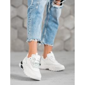 SHELOVET Sneakersy Fashion białe 1