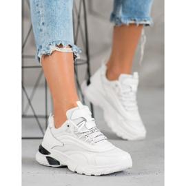 SHELOVET Sneakersy Fashion białe 4
