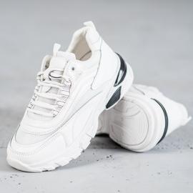 SHELOVET Sneakersy Fashion białe 2