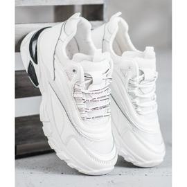 SHELOVET Sneakersy Fashion białe 3