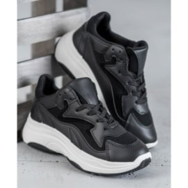 SHELOVET Sportowe Sneakersy czarne 2