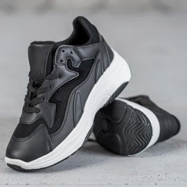SHELOVET Sportowe Sneakersy czarne 3