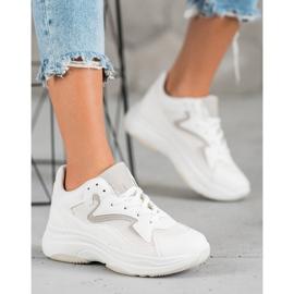 SHELOVET Sportowe Sneakersy białe 1