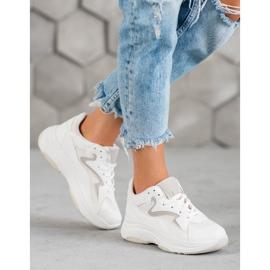 SHELOVET Sportowe Sneakersy białe 4